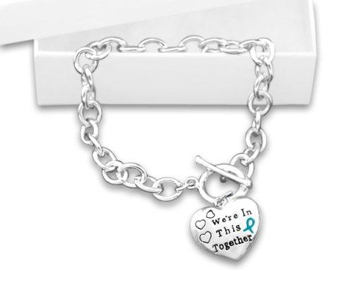 Teal Ribbon Charm Bracelet (Retail)