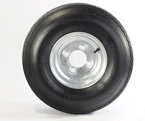 Trailer Tire On Rim 5.70-8 570-8 5.70X8 8 in. LRB 4 Lug Bolt Wheel Galvanized