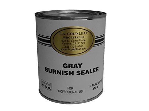 Used, L.a. Gold Leaf Gray Burnish Sealer / Primer - 1/2 Pint for sale  Delivered anywhere in USA