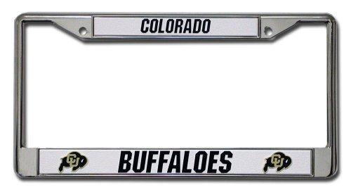Rico Industries NCAA Colorado Buffaloes Standard Chrome License Plate Frame -
