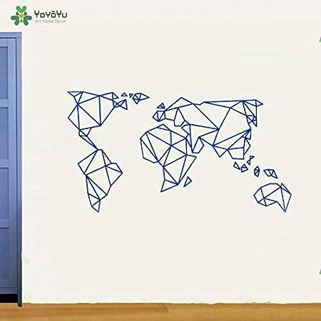 zaosan Etiqueta de la Pared Tatuajes de Pared Origami Mapa del ...
