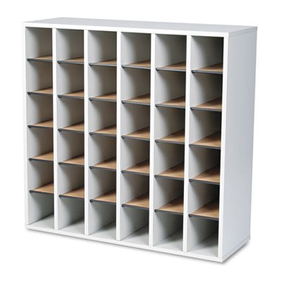 Wood 36 Compartment Mail Sorter - 6