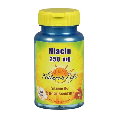 Nature comprimés de niacine vie, 250 mg, 100 Count (Pack de 2)