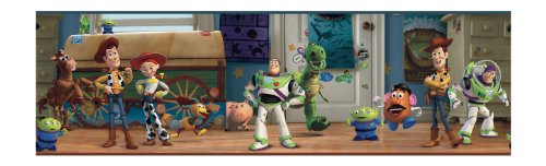 - York Wallcoverings Disney Kids DK5804BD Toy Story Andy's Room Border, Multiple