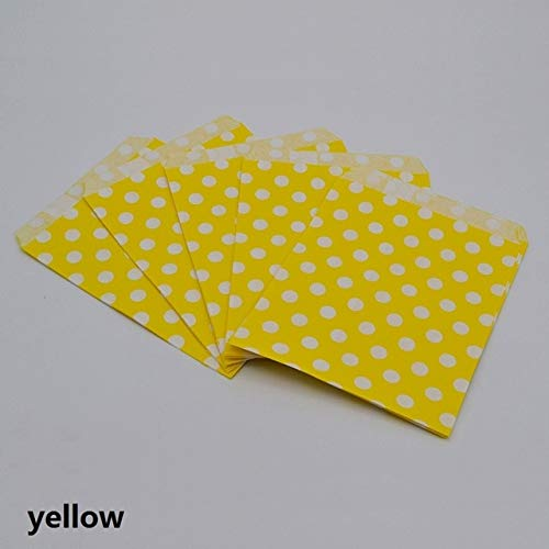 VDV Artificial Flowers 25pcs/lot 1318cm Dot Paper Bag Candy Cookies Cupcake Bags Kids Birthday Party Foods Packaging Supplies Wedding Decoration Daisy Artificial Flowers-Yellow (Best Homemade Fake Pussy)