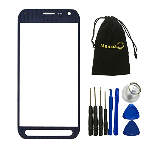 Mencia Screen Glass Lens Replacement For Samsung Galaxy S6 Active G890a With Openning Tools(Blue)