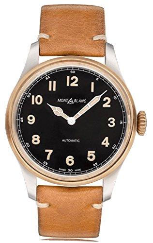 Montblanc Reloj Analógico para Hombre de Cuarzo con Correa en Cuero 116241