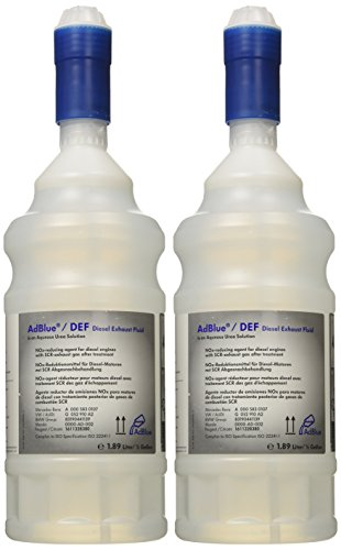 AD BLUE Diesel Emissions Fluid for SCR Code TWO 1/2 gallons (2010-2013) by ADBLUE