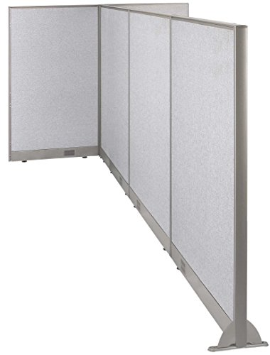(GOF Freestanding T-Shaped Office Partition, Large Fabric Room Divider Panel (120d x 60w x 60h))