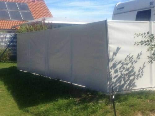 Windschutz Sichtschutz Camping aus LKW Plane (LKW-Planenqualität) stabil m. Laschen&Ösen