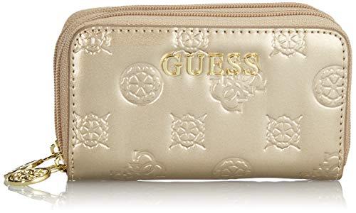 Guess - Happy Peony, Organizadores de bolso Mujer, Dorado (Gold), 2x6,5x10,5 cm (W x H L)