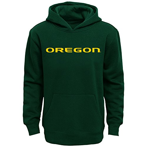 NCAA Oregon Ducks Primary Logo RP FLC Hoodie, Medium (10-12), Dark Green -