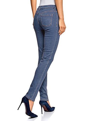 oodji Skinny Ultra 7500w Azul Vaqueros Mujer Básicos TqprtT
