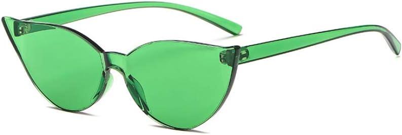 ZYJ Occhiali da Sole da Donna Vintage Rosa Cat Eye Occhiali da Sole Nuovi incantevoli per Signore Occhiali da Sole alla Moda da Designer di Moda Cool Retro Uv400 Green