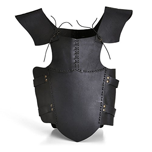 (Epic Armoury 100501 RFB Armour Leather - Black - S Torso, Unisex)