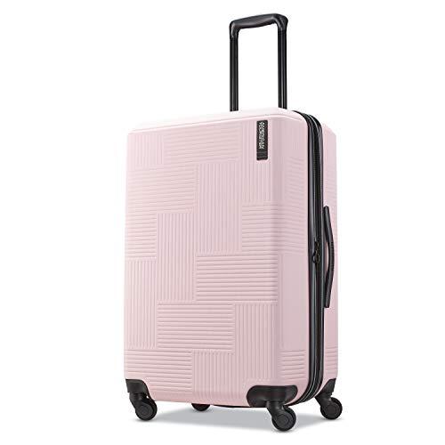 American Tourister Stratum XLT Hardside Luggage, Pink Blush, Checked-Medium American Tourister Ilite Luggage