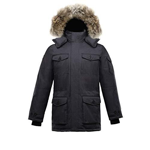 Triple F.A.T. Goose SAGA Collection | Eldridge Mens Parka Jacket (Large, Charcoal)