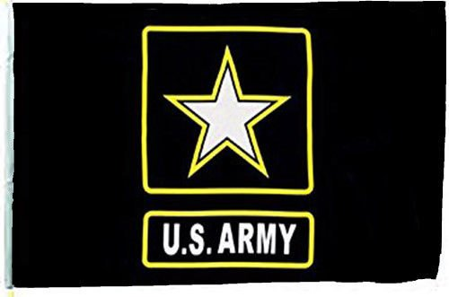 ALBATROS 12 inch x 18 inch U.S. Army Star Sleeve Flag for use on Boat, Car, Garden for Home and Parades, Official Party, All Weather Indoors Outdoors