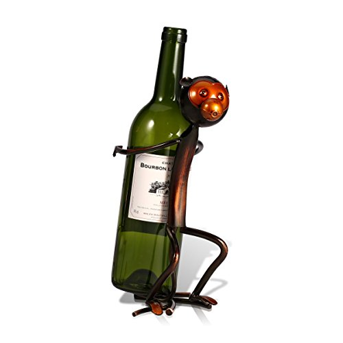 HJ Lopez Figurines & Miniatures | 3 Shape Metal Sculpture Monkey Shaped Wine Rack Wine Bottle Holder Home Furnishing Articles Handicrafts for Home Decor
