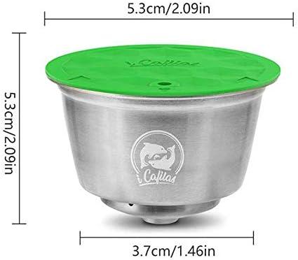 sin fugas Herramienta de llenado de c/ápsulas de caf/é de acero inoxidable reutilizable y permanente compatible con Nestle Dolce Womdee versi/ón actualizada