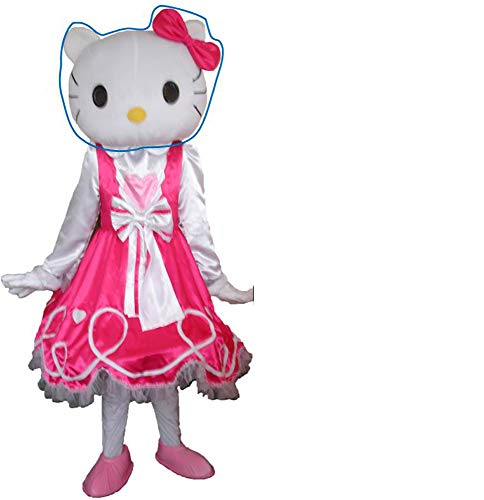 Adult Mascot Costume Parts Accessories for Hello Kitty Cosplay Character (Head) White -