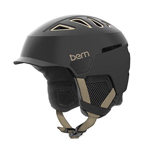Bern Heist Brim-Casco de la Mujer, Satin Black/Black Liner, Mediano