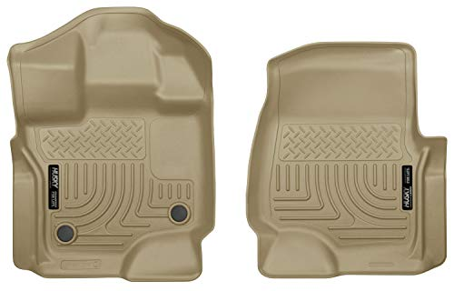 Husky Liners Fits 2015-19 Ford F-150 SuperCrew/SuperCab Weatherbeater Front Floor Mats