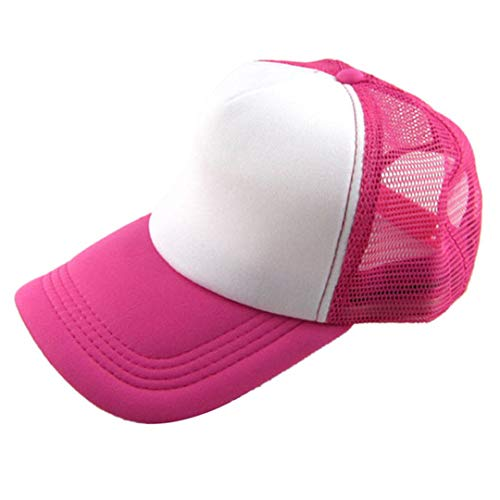 DSFEWRD Unisex Casual Hat Solid Baseball Cap Trucker Mesh Blank Visor Hat Adjustable C