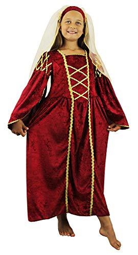 Large Girls Renaissance Princecess Costume Dress Princess Fancy Tudor