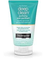Neutrogena Deep Clean Purifying and Exfoliating Face Scrub, Cooling Gel Exfoliator and Facial Scrub, 119g