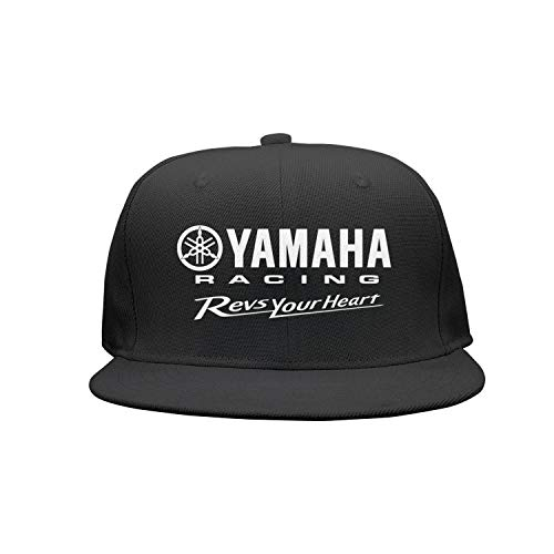 Men/Womens Yamaha-Racing-Logo- Plain Adjustable Peaked Cap Classic Baseball Hat