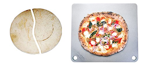 """41yy3RiYtTL - NerdChef Steel Stone - High-Performance Baking Surface for Pizza .50"""" Thick - Ultimate"""