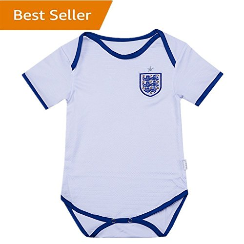England National Bodysuits Onesize For 9-18 Months Baby Suit White by soccerbabysuit