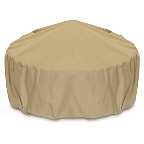 Smart Living Fire Pit Cover, 80-Inch, khaki by Two Dogs Designs (Two Dogs Designs Fire Pit Cover)