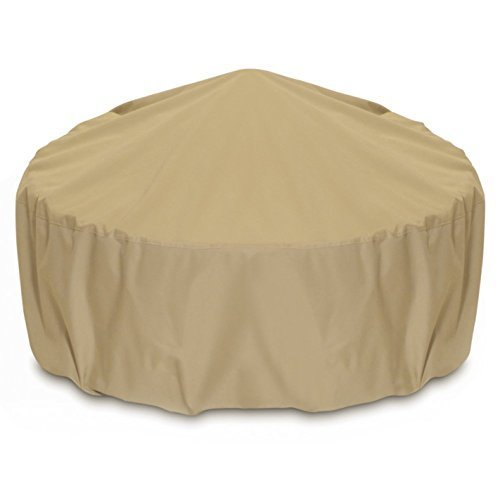 Two Dogs Designs Cover (Smart Living Fire Pit Cover, 80-Inch, khaki by Two Dogs Designs)