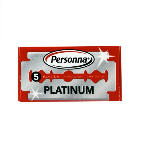 (Personna Double Edge Stainless Steel, 5 Razor Blades by Personna)