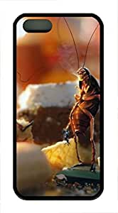 iPhone 5 5S Case April Fools Day Cockroaches Bread Kitchen TPU Custom iPhone 5 5S Case Cover Black