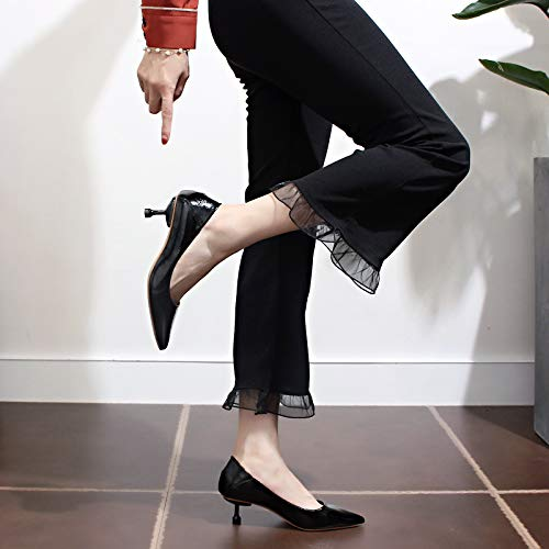 Shoes Cats Black High Yukun Pointed Stiletto Fashion heels With High Wild Heeled Autumn Shoes Shoes Women'S 6ZdfvxZw