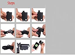 Skycoolwin 60-100X Multifunctional magnifying glass Adjustable Microscope Loupe Magnifier for Jewelry Gem watching Tool with LED UV Light