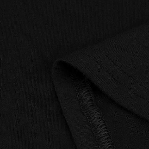 Faldas Largas Mujer Verano, Zolimx Mujeres 2018 Ofertas Vestido de Camiseta Suelto Casual Cuello Redondo Mangas Larga Vestidos Ropa de Mujer Talla Grande Negro