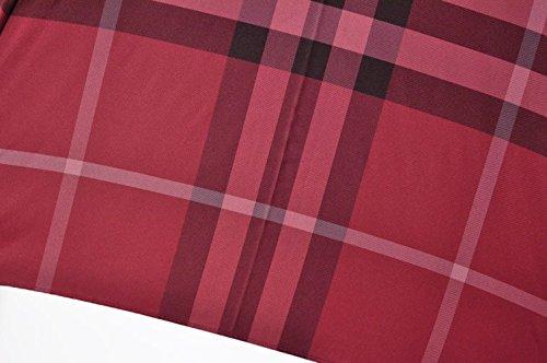 (バーバリー)BURBERRYチェックがお洒落なレディースジャンプ雨傘(長傘)/赤