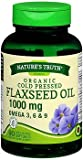 Nature's Truth Organic Cold Pressed Flaxseed Oil 1000 mg Omega 3, 6 & 9 Quick Release Softgels - 90 ct, Pack of 6