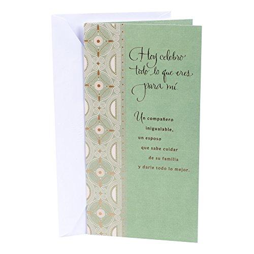 Hallmark Vida Spanish Birthday Greeting Card for Husband (Geo Circles)