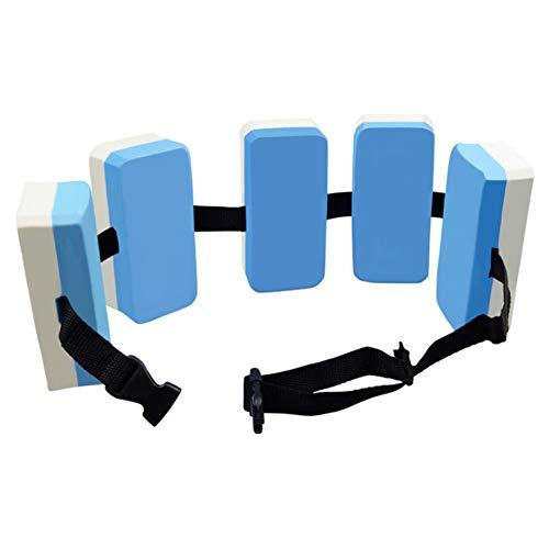 Ewer Swim Belts for Learning to Swim, Premium EVA Foam Swim Weight Belt, Adjustable Jogging Flotation Belt, Swim Waist Belt for Kids Adults, Blue + White ()