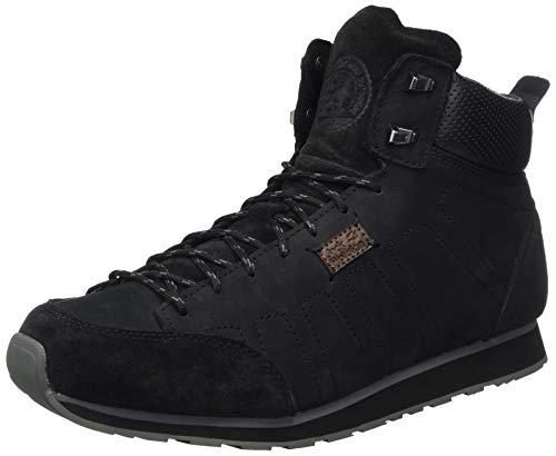 Zapatillas Jack Wolfskin Mountain DNA Lt Mid M para hombre, negro / gris asfalto