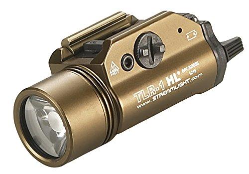 Streamlight 69267 TLR-1-HL High Lumen Rail-Mounted Tactical Light, Flat Dark Earth Brown - 800 Lumens