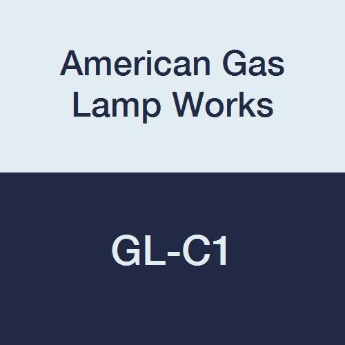 American Gas Lamp Works GL-C1 Open Flame Chimney, 2'' OD, 6'' Height, Pyrex Glass