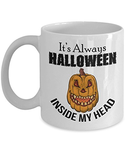 FUNNY QUOTE COFFEE MUG, Cute and Scary Design for your Halloween Party!Unique Novelty Gift Ideas, Gifts Under $20, Birthday Christmas Hanukkah -