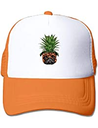 18ebd8194ae Men Women Pineapple Pug Puppy Dog Mesh Snapback Hats Adjustable Dad Hat