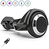 Spadger Hoverboard with BLE Speaker & LED Light, UL 2272 Certified Self Balancing Scooter, 6.5'' Wheels R5 Model for Kids and Adults [Black]